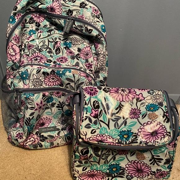 Vera Bradley Backpack and Lunchbox